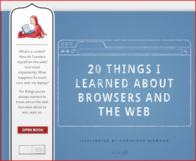 كتاب جوجل عن الانترنيت والمتصفحات
